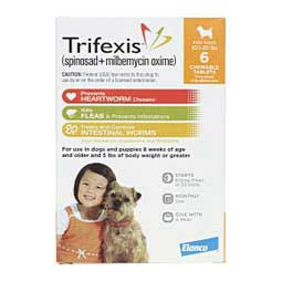 Trifexis Heartworm and Flea Prevention Chewable Tablets for Dogs Elanco Animal Health